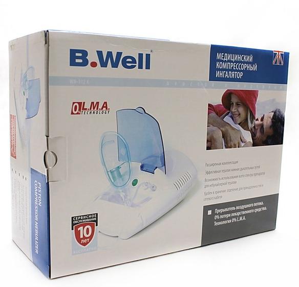 Домашняя медтехника :: Компрессорный небулайзер B.Well WN-112K
